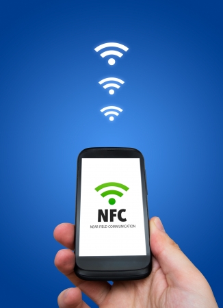 Near field communication. NFC banking payment technology