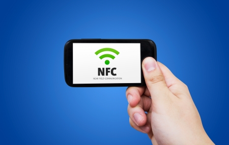 Near field communication. NFC banking payment technology photo