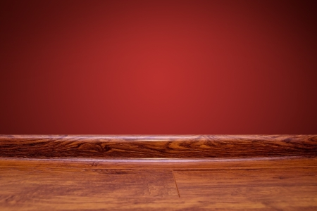 Board wall and wooden floor background photo