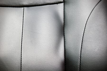 seam: Closeup of seat, chair. Leather with seam texture  Stock Photo