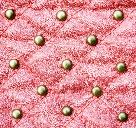 Red stitched leather texture  photo