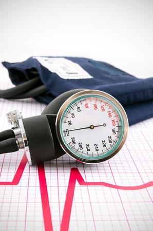 医療の背景に Sphygmomanometerfor 測定の血圧