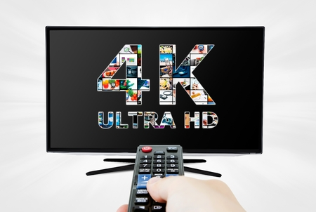 hd tv: TV ultra HD. 4K television resolution technology