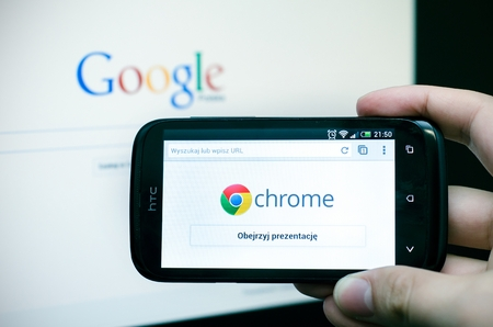 Google Chrome mobile web browser