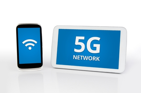 mobile communication: Mobile devices with 5G network standard communication