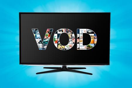 vod: Video on demand VOD service on smart TV