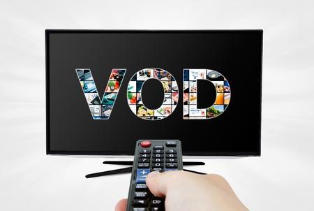 in demand: Video on demand VOD service on smart TV