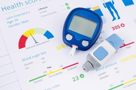 健康診断。Glucometer と糖尿病のテスト 写真素材 - 36086045