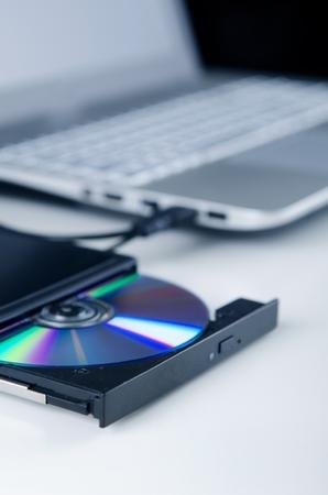 usb port: External optical disc writer. Compact device connected via USB port. CD, DVD backup data.