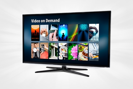 vod: Video on demand VOD application or service on smart TV.