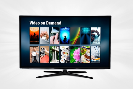 formats: Video on demand VOD application or service on smart TV.