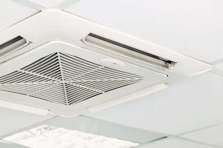 Modern air conditioning system installed on the ceiling