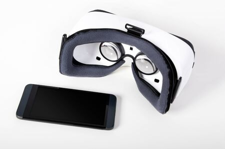 easy way: Modern virtual reality glasses. Easy way to watch movies in 3D