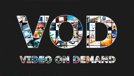 vod: Video on demand VOD service in Television concept