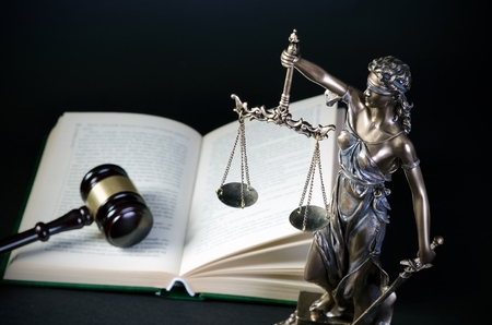 constitution: Law concept with Themis, symbol of justice. law justice attorney themis lawyer scale legal book concept