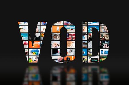 VOD vidéo sur le service tv hd écran vidéo concept de la télévision à la demande Banque d'images - 70414527