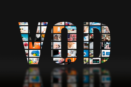 VOD video on demand television service tv hd screen video concept