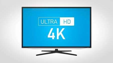 4K high resolution television. TV multimedia concept