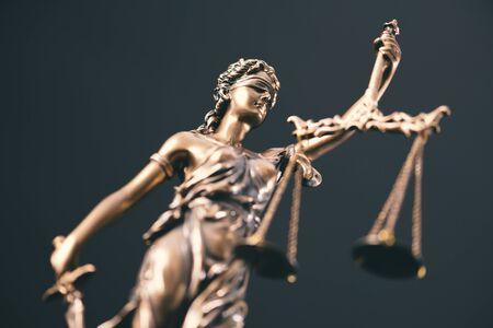 Law, legal, judge concept. Lady justice composition