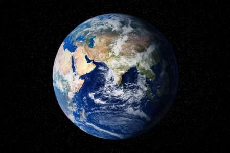 Earth globe in the outer space.