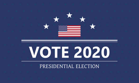 Presidential election vector template. Voting for president 2020 illustration.
