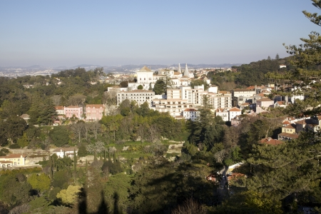 sintra: Stock Photo - View Overlooking Sintra Portugal Stock Photo