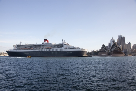 Queen Mary II Cruise Ship In Sydney Harbour
