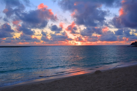 and magnificent: magnificent sunrise in hawaii Stock Photo