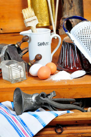 baking ingredients eggs vintage Stock Photo - 10700775