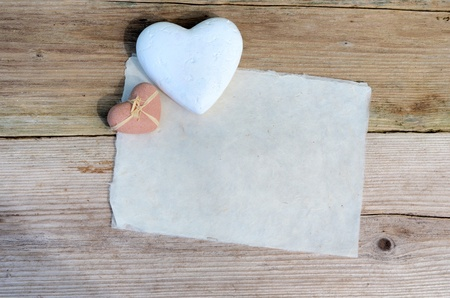 Handmade paper heart photo