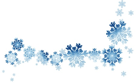blue snowflakes background photo