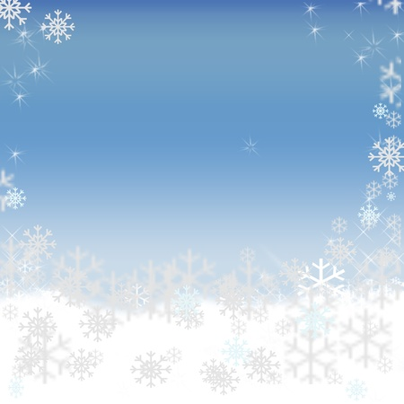 Christmas background snow stars photo