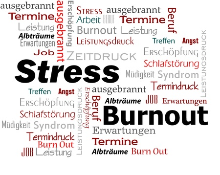 Burnout Stress  Cloud Stock Photo - 17147649