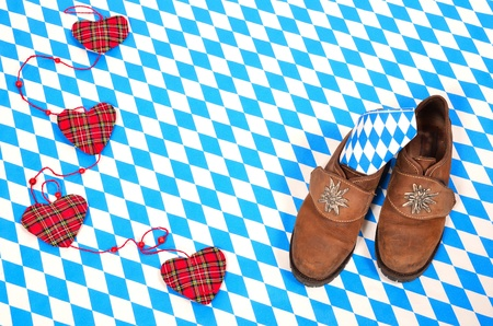 Bavarian Oktoberfest pattern blue white background photo