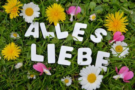 all love: Felice Tutte le lettere d'amore prato giardino GRN
