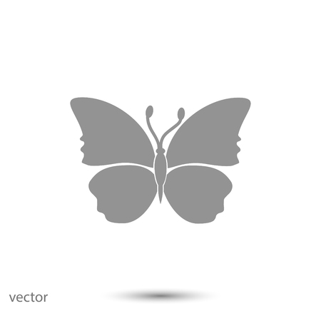 butterfly icon, vector best flat icon EPS
