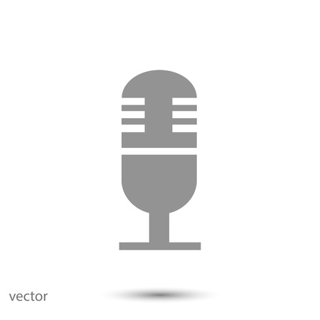 condenser: microphone icon, vector best flat icon, EPS