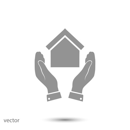 eps vector icon: hand and house icon, vector best flat icon,EPS