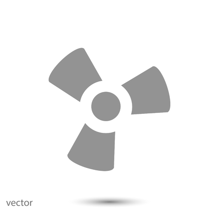 water cooler: black fan and propeller icon, vector best flat icon, EPS
