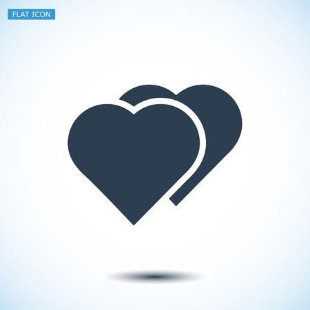 pulsating: heart icon, vector best flat icon, EPS Illustration