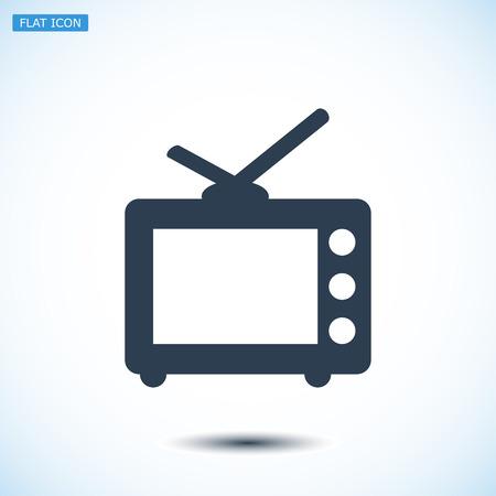 tvset: TV icon, vector best flat icon, EPS