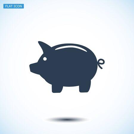 mumps: Piggy bank icon, vector best flat icon EPS