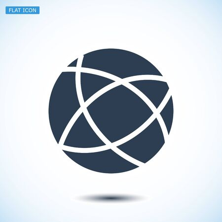 Global technology vector icon, vector best flat icon, EPS
