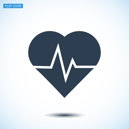 pulsating: heartbeat vector icon, vector best flat icon, EPS