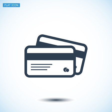 transact: card icon, vector best flat icon, EPS