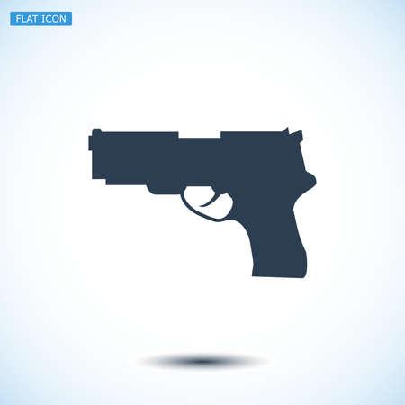 dangerous weapons: gun icon, vector best flat icon, EPS
