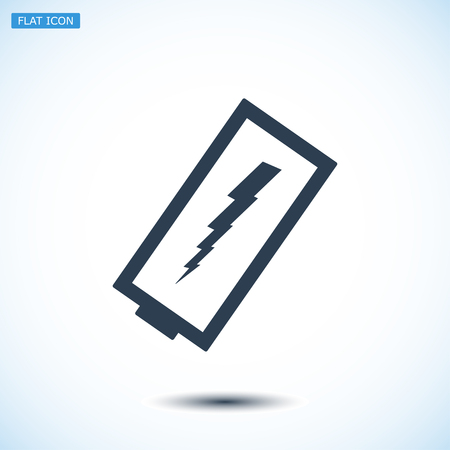 ampere: discharged battery icon, vector best flat icon, EPS