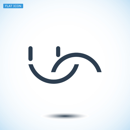 smile icon, vector best flat icon, EPS