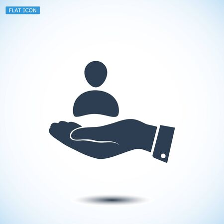 affiliation: business man icon, vector best flat icon, EPS Illustration