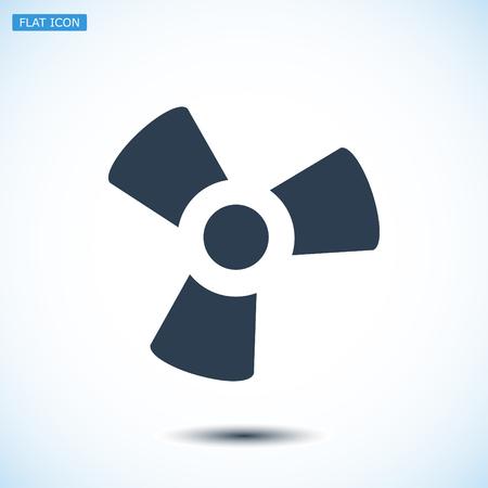 black fan: black fan and propeller icon, vector best flat icon, EPS